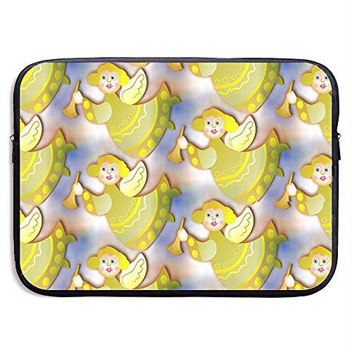 Waterdichte Laptop Sleeve Pocket Case Gouden Hoek met Trompet Cover voor Alle Computer Notebook 15 Inch