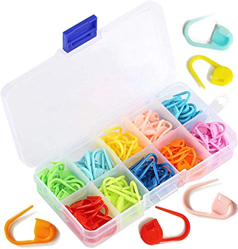 100 Pieces Locking Stitch Markers Assorted Color Knitting Stitch Counter Crochet Stitch Needle Clip Plastic Safety Pin