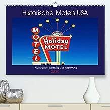 Historische Motels USA - Kultstätten jenseits der Highways (Premium-Kalender 2020 DIN A2 quer): Die Kultstätten des Amerikanischen Traums von der grenzenlosen Mobilität und Freiheit (Monatskalender, 14 Seiten )