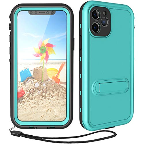 Transy Waterproof iPhone 11 Pro Max Case - Blue iPhone 11 Pro Max Full Body Bumper Case IP68 Waterproof Rugged Protection Case with Built in Screen Water Resist Case Cover
