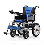 Y-L Elderly Disabled Approved Foldable Power Compact Mobility Aid Wheel Chair, Lightweight Folding Carry...