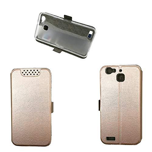 QiongniAN Schutzhülle für Huawei GR3 TAG-L01 TAG-L03 TAG-L13 TAG-L21 TAG-L22 TAG-L23 / Enjoy 5S Hülle Hülle Cover Pink Gold
