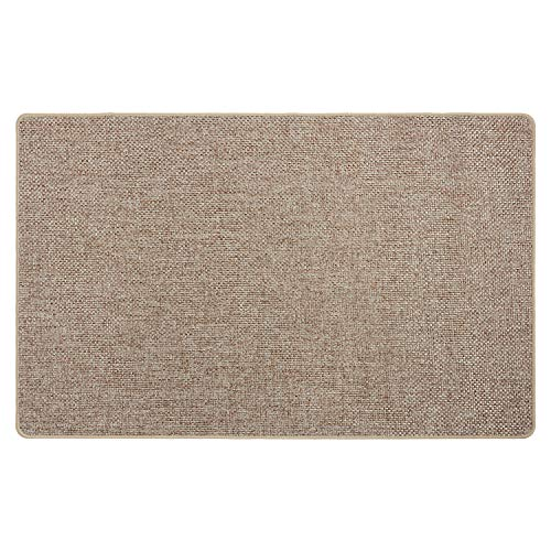 Tappeto INTRECCIO - Tappeto multiuso in tessuto con fondo antiscivolo per ingresso, cucina, camera e bagno - Lavabile in lavatrice - 50x80 cm