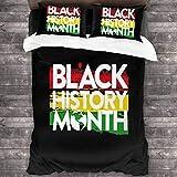 Lovely Baby-Z - Juego de sábanas de 3 piezas, diseño de logotipo de Mes de la Historia, color negro