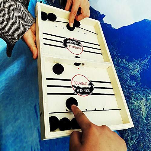 ZMMB Table Desktop Battle 2 IN 1 Ice Hockey Game which can Help Them get Along More harmoniously, and Also Enhance Children's Sense of Competition.