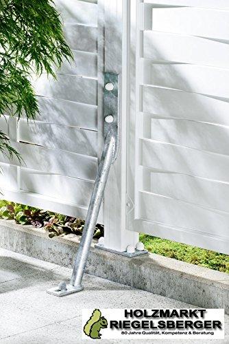 Gartenwelt Riegelsberger Sturmanker aus Stahl feuerverzinkt - zusätzlicher Schutz für Zaunanlagen - Pfostenhalter - Zaunhalter - Grundanker