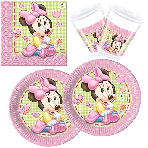 Procos 10108564B Kinderpartyset Disney Baby Minnie, Größe S, 36 teilig
