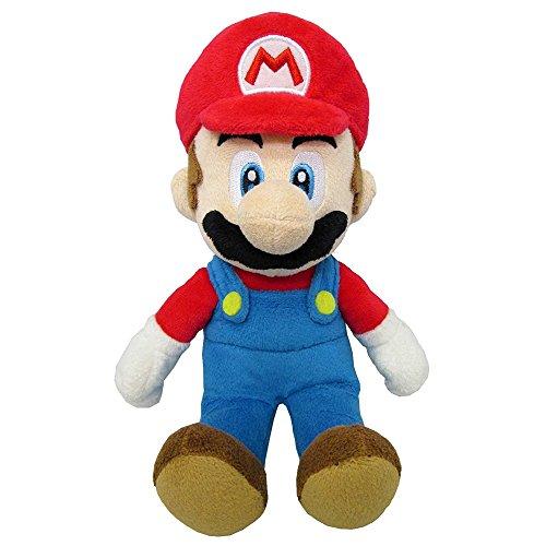 Super Mario Bros Peluche Super Mario, 24 cm, licenza ufficiale Nintendo, colore: rosso