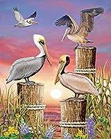 大人のためのパズル1000ピース木製パズル-動物の鶴-挑戦的なパズルゲームフロアパズル