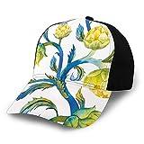 FULIYA Casquette de baseball unie délavée - Aquarelle - Fleurs abstraites - Aliments naturels bio - Mode de vie rétro réglable - Cadeau pour homme/femme