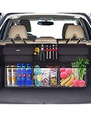 Oasser トランク 収納ポケット 車用収納バッグ ラゲッジルームバッグ 6つの収納ポケット 600Dオックスフォード 防汚耐久 大容量 取付簡単 SUV/MPV/VAN対応 汎用 カー用品 E6