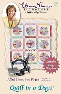Quilt in a Day Eleanor Burns Signature Pattern- Mini Dresden Plate Pattern and Template (1280)