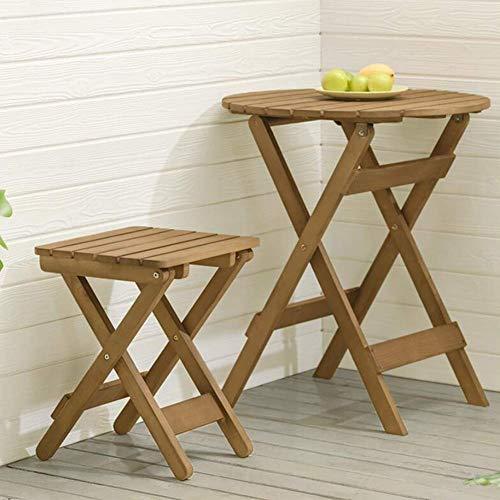 Oanzryybz Bonne qualité Table Tables Pliantes Portable Tabourets de Jardin Meubles Bistro extérieur Patio Café Side End Tables (Color : 1 Table+1 Stool)
