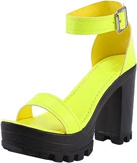 Nursing Slip-on /à Bout Ouvert et Semelles compens/ées Plates Mode color/ées pour Femmes Talon Bas Bride Cheville Talon Haut Escarpin Chaussures de Travail Taille de Sandales