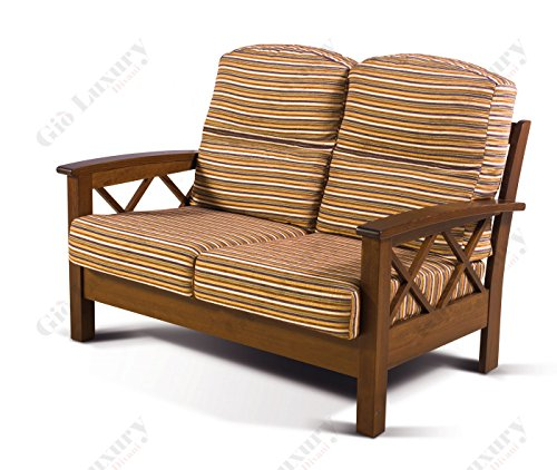 Divano 2 posti 'helsinki_jose Arte povera' con struttura in legno massello completamente sfoderabile in pronta consegna 128 x 85 x 92 - Made in Italy