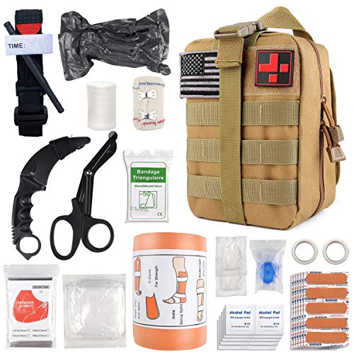 Emergency Survival First Aid Kit with Tourniquet, 6