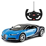 Licensed RC Car 1:14 Scale Bugatti Chiron | Rastar Radio Remote Control 1/14 RTR Super Sports Car Model Blue