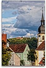 Lienzo textil prémium, 80 cm x 120 cm de alto, lago de rosas con vistas al Schwanberg, cuadro sobre bastidor, imagen sobre lienzo auténtico, impresión sobre lienzo (CALVENDO Orte);CALVENDO Orte
