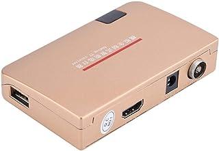 Lazmin RF zu HDMI Konverter, 100 240V Analog TV Receiver Adapter mit Fernbedienung(EU Stecker)