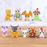 Weichuang Muebles Dormitorio decorDigital Monstruo Mini Figuras de PVC Digimon Juguetes 9 unids/set Muebles