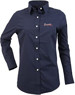 Atlanta Braves Women's Long Sleeve Dress Shirt