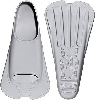 CAPAS Swim Training Fins Comfortable Silicone Swimming Flippers Short Blade Build Leg Strength