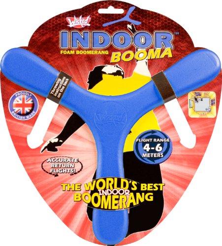 Wicked Wicked WKIND-B Wicked Indoor Booma Blue | The World's Best Sports Boomerang Weicher und sicherer Memorang Foam, blau