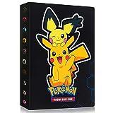 Sinwind Álbum Titular de Tarjetas Pokémon, Pokemon Album Cartas, Pokémon Álbum Titular de Tarjetas, Pokémon Carpeta Libro 30 páginas 240 Tarjetas Capacidad (Pikachu)