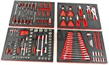 JOMAFA - Conjunto de módulos de herramientas eva con terminación en carbono para carro, 154 piezas