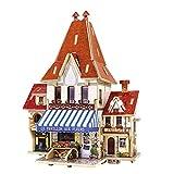 Sharplace Proyecto de Miniatura de Artesanía de Bricolaje Casa de Muñecas de Madera 3D Francés