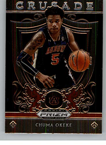 2019-20 Prizm Draft Crusade Basketball #37 Chuma Okeke Auburn Tigers Official NCAA Trading Card From Panini America