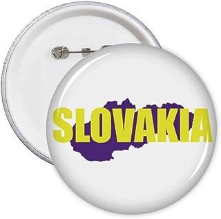 Lot de 5 badges carte de l'Europe Slovaquie Art Déco Cadeau Mode Badge Badge Emblème Accessoire Décoration