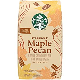 Starbucks Flavored Ground Coffee — Maple Pecan — 100% Arabica — 1 Bag (311g)