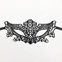 TANGGOOO Black Y Lace Masquerade Mask for Carnival Halloween Masquerade Half Face Ball Party Masks Festive Party Supplies #30 Must Have Gifts Friendship Gifts The Favourite Comic Superhero Birthday
