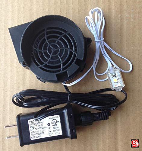 AIR CHARACTERS Replacement .5a Fan Blower for Gemmy Airblown Inflatable 12v/0.67a Adapter - Model JDH7530S