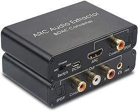 SOUTHSKY ARC HDMI Extractor de Audio a Conector de Audio de 3.5 mm RCA Coaxial SPDIF Óptico L R Salida Puerto de Interfaz 192KHz Convertidor DAC Soporte 5.1CH