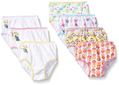 Toddler Girls 7 Pack Despiciable Me 2 Panty 2T-3T
