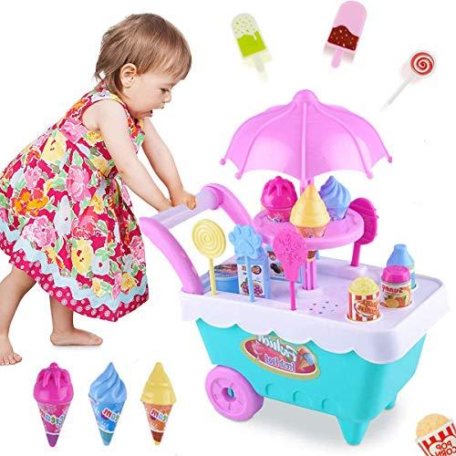 Lychee 16 Pezzi Cucina Cibo Negozi Giocattolo Carrello Gelati Gioco d'Imitazione Regalo per Bambini