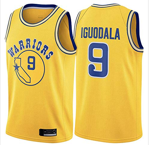 YDYL-LI Jerseys De Hombres - NBA-Golden State Warriors # 9 Andre Iguodala - NBA Basketball Jersey Malla Transpirable Edición De Tela Unisex Camiseta Sin Mangas,Amarillo,S(165~170CM)