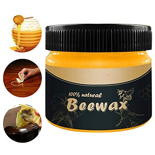 Wood Seasoning Beewax Traditional Beeswax Polish for Wood & Furniture, All-Purpose Beewax for Wood Cleaner and Polish Wipes-Furniture Care Multipurpose Natural Beeswax