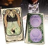 DFGHJKNN Cartas De Tarot - Ethereal Visions Illuminated - Baraja De Tarot 78 Cartas - Fiesta...