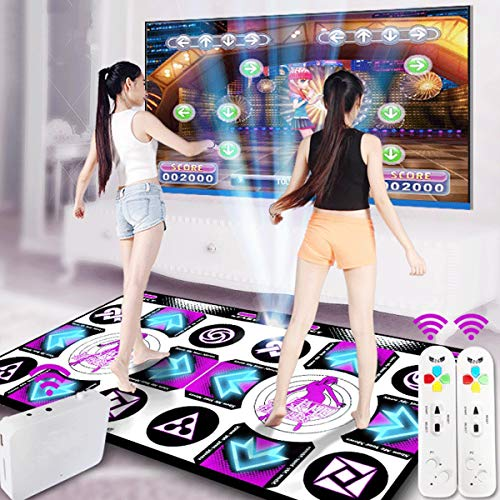 YIZHIYA Tanzmatten,LED Smart Light Drahtlose Double Dance Mat Games Pad,rutschfeste...