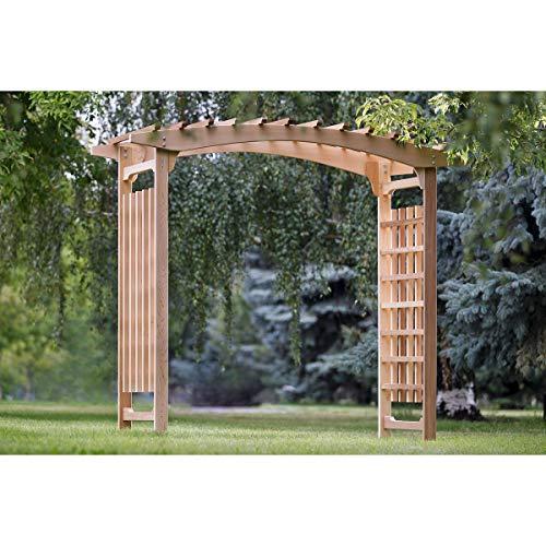 cedar outdoor wedding arch