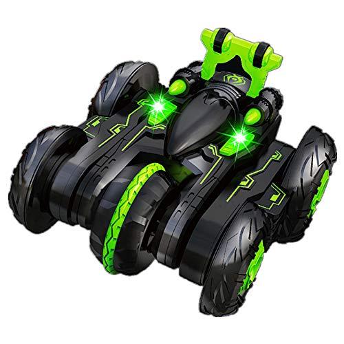 RC Stunt Car, 4 WD Lado Duplo 360 ° Flip Remote Control Stunt Car Com Luzes LED, 2,4 GHz Controlo Remoto De Alta Velocidade Off Road Racing Vehicle Crianças Pequenas