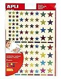 APLI Kids 18396 -Bolsa gomets estrellas multicolor metalizadas permanentes 6 hojas
