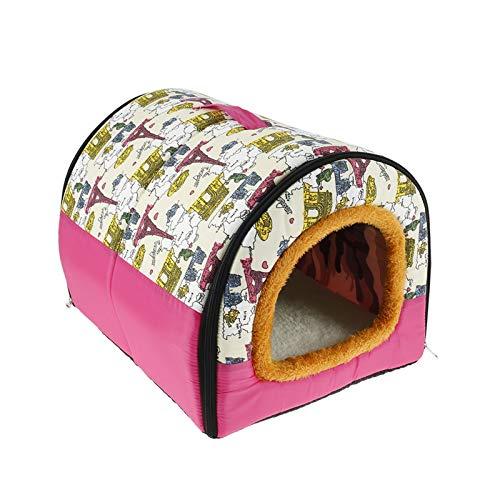 Jgzwlkj Cama para Mascotas 2 en 1 Casa de Gato de Lana cálida Cama de Mascotas Plegables para pequeños Gatos medianos Protable Travel Cesta al Aire Libre Mascotas Suaves Producto