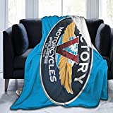 Vic-Tory - Manta de franela de forro polar para sofá, sala de estar, dormitorio