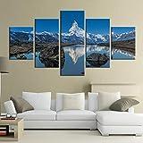 NJKSAXCDw Matterhorn Mit Reflexion In Stelli See Poster