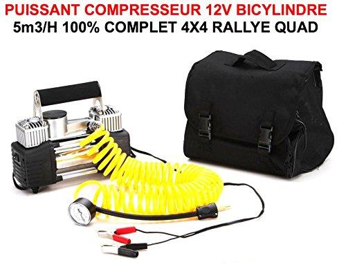 Leistungsstarker Kompressor 12V bicylindre 12V 5M3/H Compact Leicht A Einbau. Tasche und Zubehör. RAID Preparation 4x 4