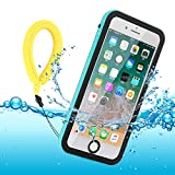 Funda Impermeable iPhone 8 Plus/iPhone 7 Plus, IP68 Waterproof Outdoor Delgado Cover a Prueba de choques Anti-rasguños Full Body con Protector de Pantalla Funda for iPhone 8 Plus / 7 Plus (Blue)